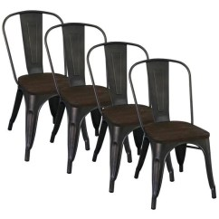 Industrial Style Dining Chairs Rascal Power Chair Shop Carbon Loft Pemberton Gunmetal Set Of 4