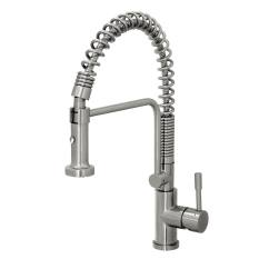 Industrial Kitchen Faucet Handles And Knobs Geyser Stainless Steel Commercial Style Coiled Spring