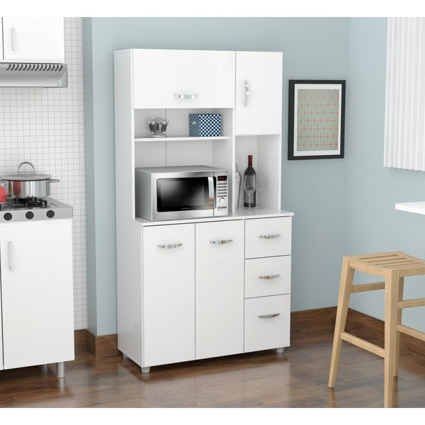 Shop Inval America LLC Laricina White Kitchen Storage Cabinet  On Sale  Free Shipping Today