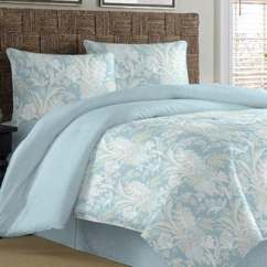 Office Chair Overstock White Dining Table Shop Tommy Bahama Tiki Bay Silver Blue Cotton 4-piece Comforter Set - Free Shipping Today ...