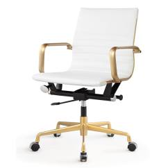 Office Chair For Sale Lazy Boy Recliner Repair Shop Dix In Gold And White Leatherette On Free