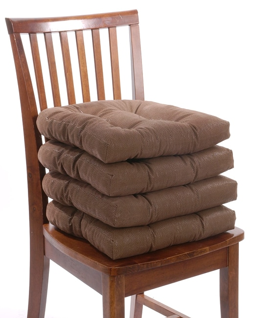 leather chair pads swing outdoor patio shop faux 4 pack no slip free shipping on orders over 45 overstock com 1812999