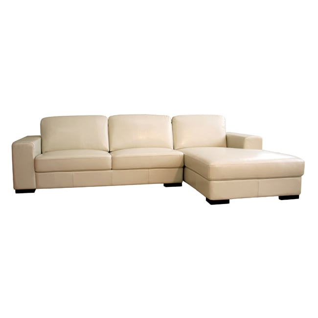 cream full leather chaise sectional sofa southern motion maverick lay flat reclining shop bi cast free shipping