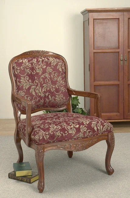 Burgundy Accent Chair  10374630  Overstockcom Shopping