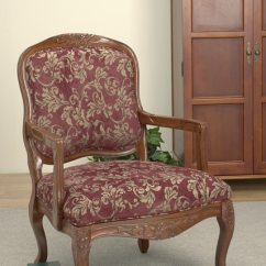 Overstock Arm Chair Handmade Wood For Home Burgundy Accent - 10374630 Overstock.com Shopping Great Deals On Living Room Chairs