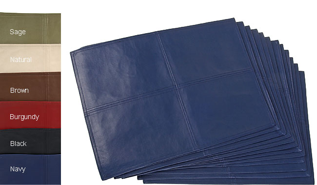 Faux Leather Metro Placemats Set of 12  Free Shipping
