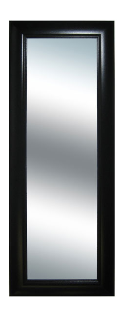 Black Grooved Frame Long Wall Mirror  Free Shipping Today