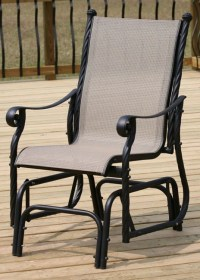 Lakeside Aluminum Single Glider Patio Chair - Free ...
