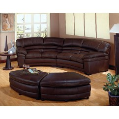 Chocolate Brown Leather Sectional Sofa With 2 Storage Ottomans Custom Sofas Los Angeles Ca Shop Free Shipping Today Overstock Com 2345034