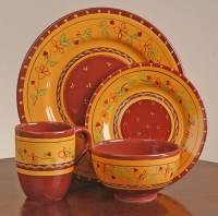 Ambiance Tuscan Fields 16-piece Dinnerware Set - 10712602 ...