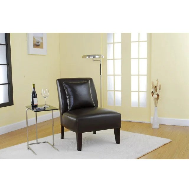 rialto black bonded leather chair covers rental montreal accent dark brown - free shipping today overstock.com 10722683
