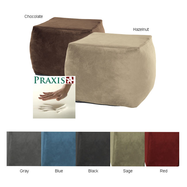 memory foam bean bag chair reviews ikea foldable chairs shop deluxe ottoman - free shipping today overstock.com 2519096