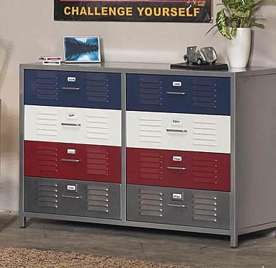 Boys Locker 8Drawer Dresser  10741523  Overstockcom Shopping  Great Deals on Dressers