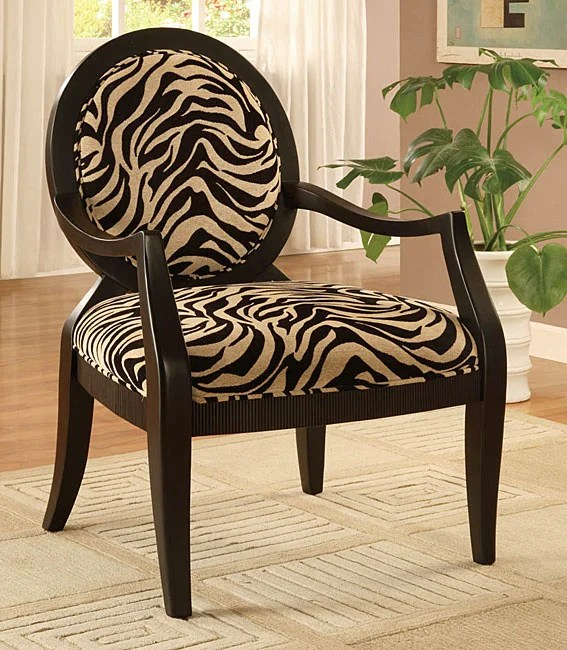 Zebra Print Oval Back Chair  Free Shipping Today