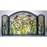 Tiffany-style Dragonflies Fireplace Screen - Free Shipping ...