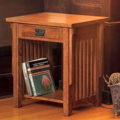 Sofa Side Table Wood Upholster Mission Solid Oak End - Free Shipping Today ...