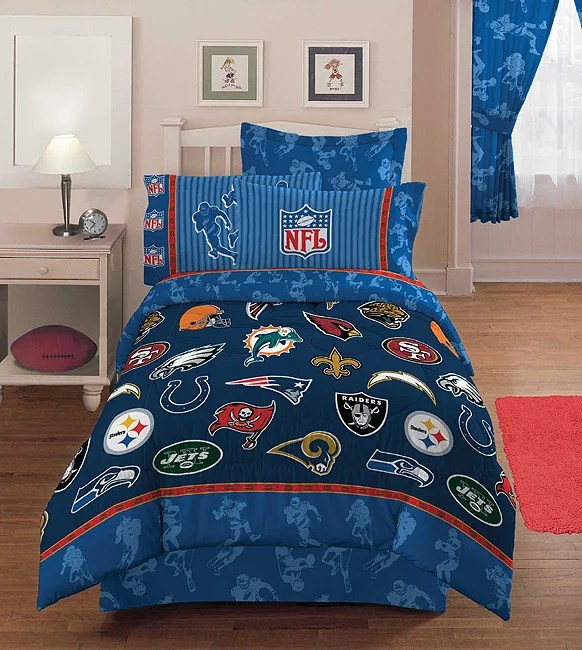 Nfl Playoff 4 Piece Twin Comforter Set Free Shipping