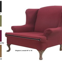 Wingback Chair Slipcover Pattern Desk Next Stretch Loveseat - 11130770 Overstock.com Shopping Big Discounts On ...