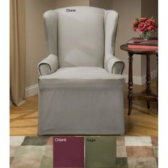 Sure Fit Parsons Chair Slipcovers Akracing Gaming Review Cotton Duck Wing Slipcover - Free Shipping On Orders Over $45 Overstock.com 11200816
