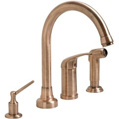 Four Hole Kitchen Faucets Wooden Cart Shop Fontaine Antique Copper 4 Faucet Free Shipping Thumbnail