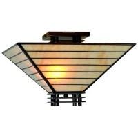 Tiffany-style Mission Semi-flush Ceiling Fixture - Free ...