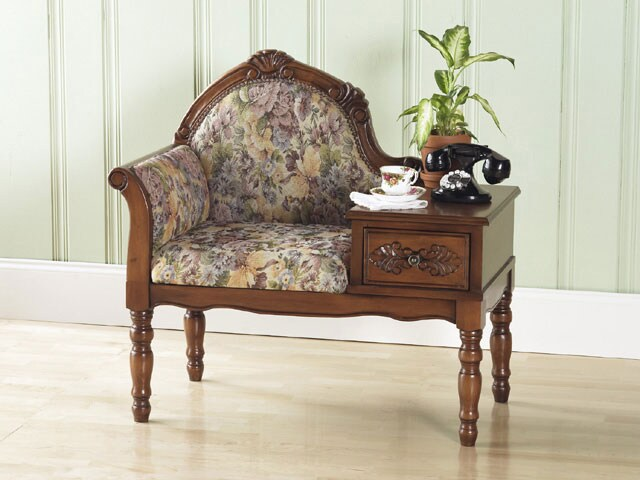 Hand Carved Gossip Bench Free Shipping Today Overstock