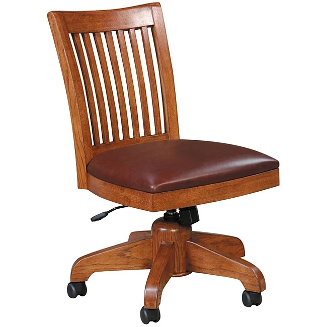 cane back chairs for sale chicco 360 hook on chair mission solid oak swivel desk - free shipping today overstock.com 11397849