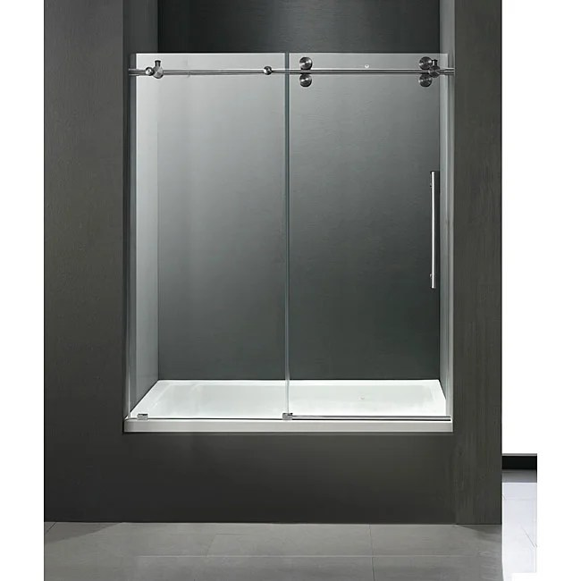 Shop VIGO Totaly Frameless Bathtub Sliding Doors Free