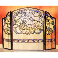 Tiffany-style Stained-glass Fireplace Screen - Free ...