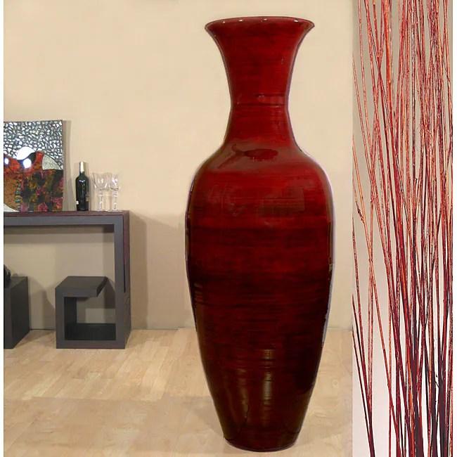 Shop Tall Mahogany 60inch Bamboo Vase and Branches  Free