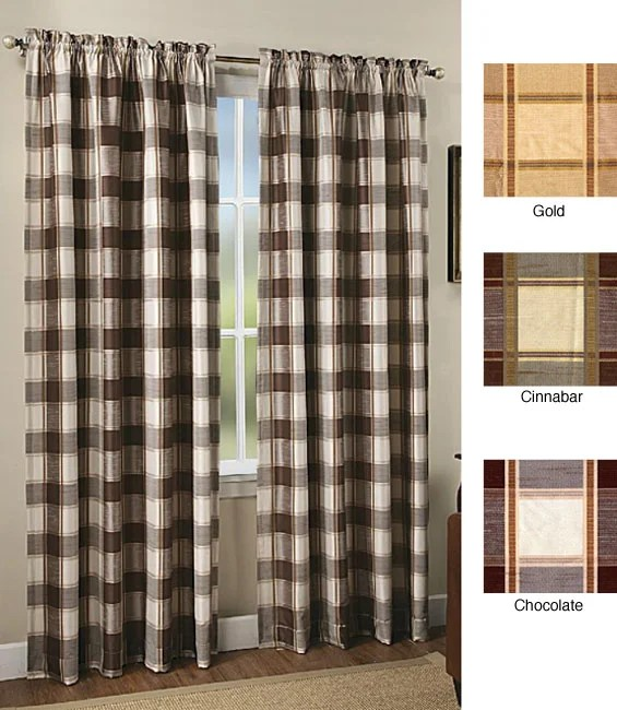 Brockport 84 Inch Plaid Window Curtain Panel Free Shipping On