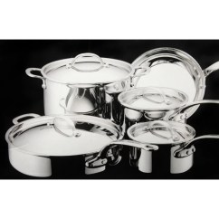 Kitchen Aid Pans Island Mobile Shop Kitchenaid Stainless Steel 9 Piece Cookware Set Free Shipping Thumbnail