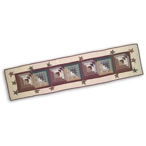 Woodland Star and Geese 72-inch Table Runner