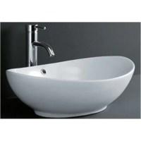 DeNovo Oval Shaped Porcelain Bathroom Vessel Sink - Free ...
