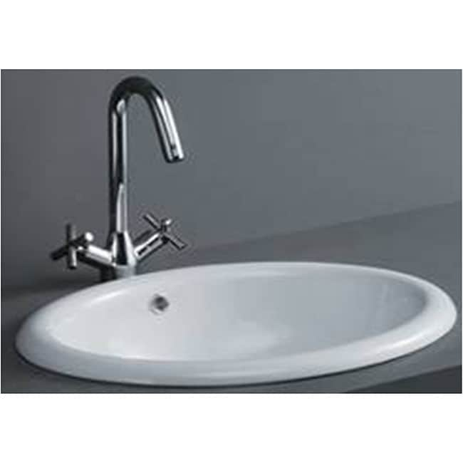 Oval Drop In Porcelain Bathroom Sink Free Shipping Today