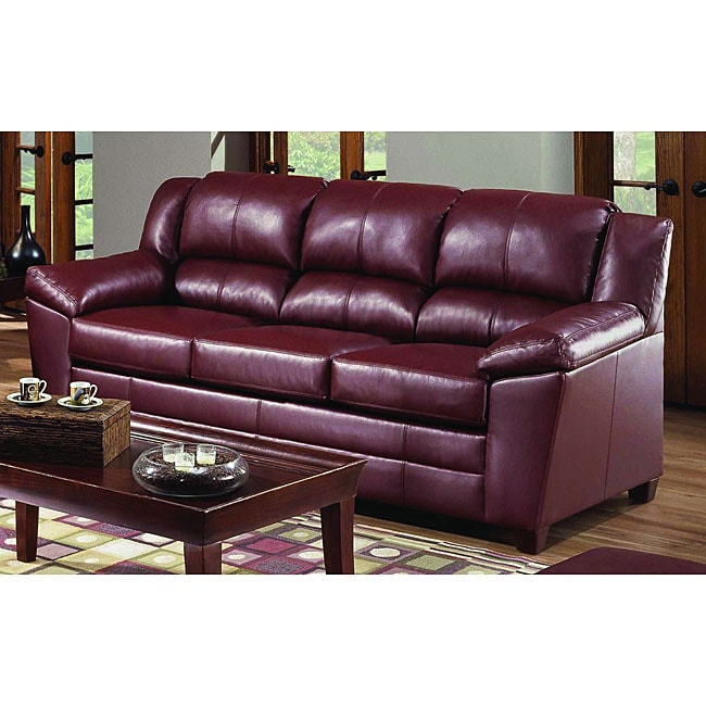simmons bonded leather sofa fillmore paris wine - free shipping today ...