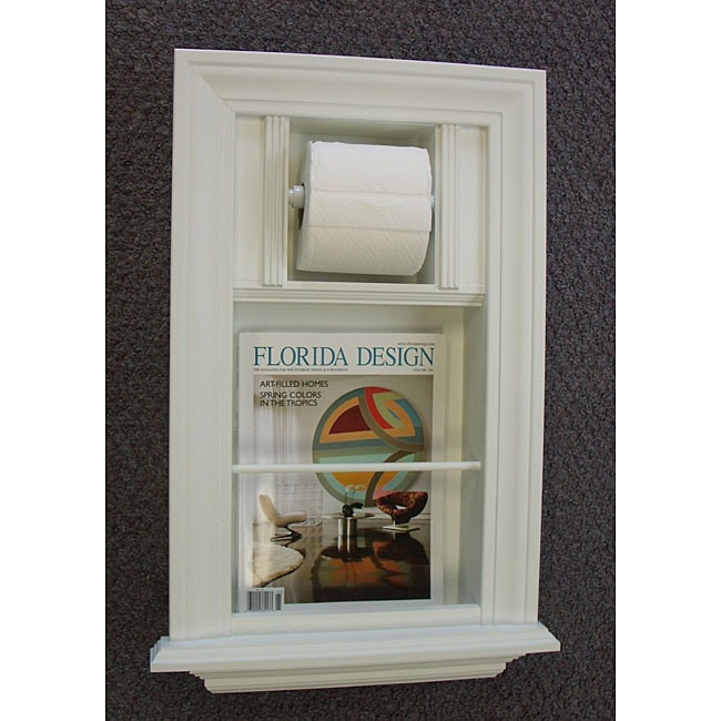 Shop Recessed Bathroom Magazine Rack and Toliet Paper