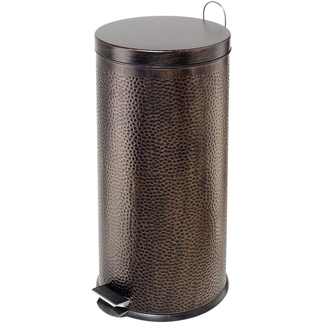 stainless steel kitchen trash cans modern rug bronze-finished 30-liter step can - free shipping ...