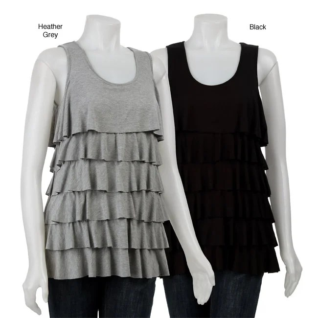 Grace Elements Womens Tiered Ruffled Tank Top  Overstock Shopping  Top Rated Grace Elements