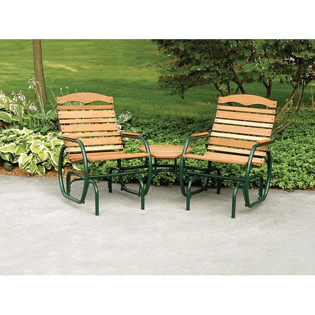tete a chair outdoor aluminum folding lawn shop hi back and bench set free shipping thumbnail