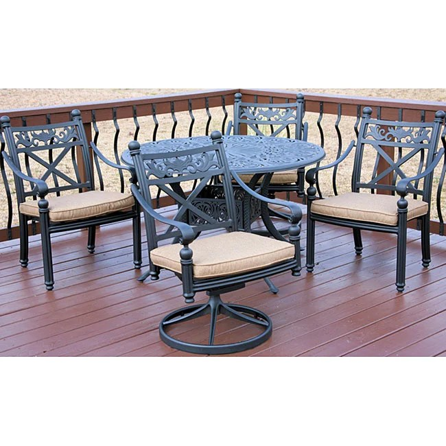Madrid 5piece Patio Furniture Set  Overstock Shopping