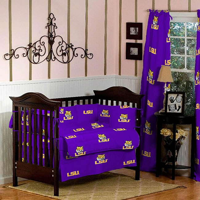 shop lsu  piece crib bedding set  shipping today overstock