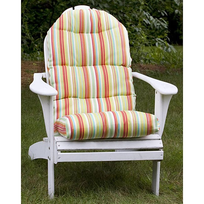 Outdoor Green Stripe Adirondack Chair Cushion  Free