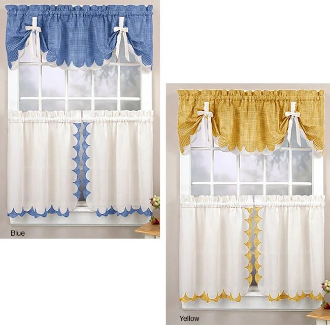Tabitha 3 Piece Curtain Tier And Valance Set Free Shipping On