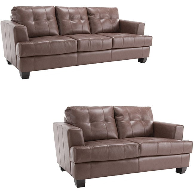 rialto sofa bed chest shop premium brown leather and loveseat set free shipping today overstock com 4281475