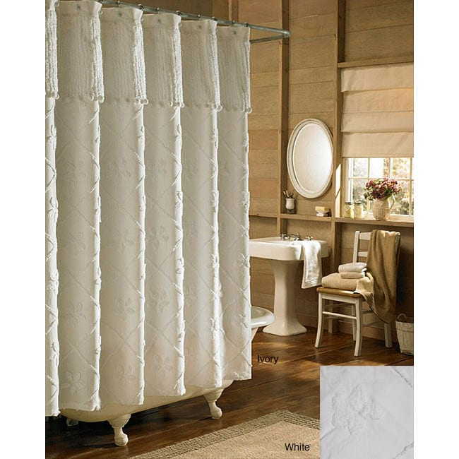 Tufted Chenille Shower Curtain Free Shipping On Orders Over 45 12287838