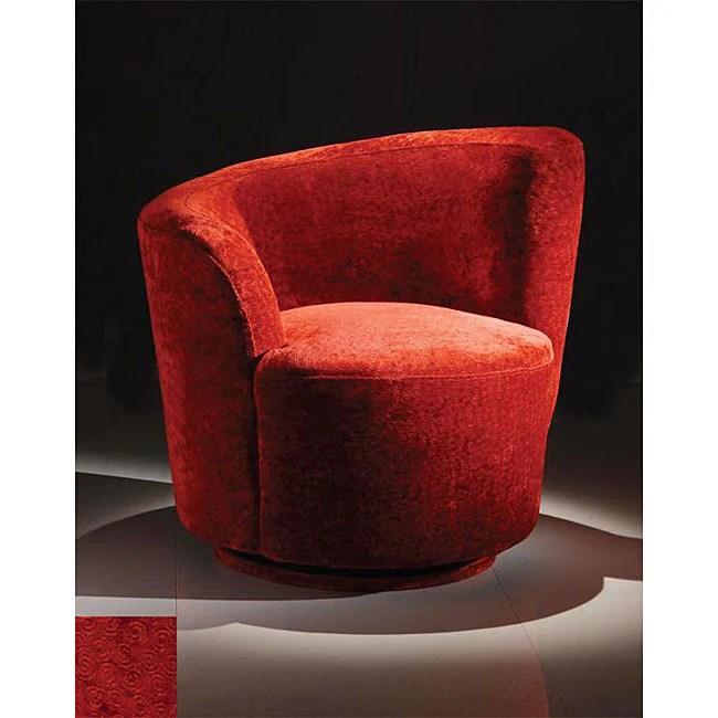 zahara swivel chair dining construction plans elegant red swirl velvet club - free shipping today overstock.com 12301115
