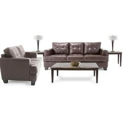 7 Piece Living Room Package Simple Tv Unit Design For India Shop Leather Sofa And Loveseat 3 Tables 2 Lamps Free Shipping Today Overstock 4370618