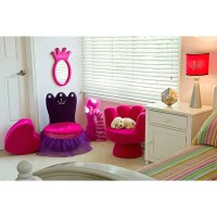 Princess Plush Kids' Crown Chair - 12354185 - Overstock ...