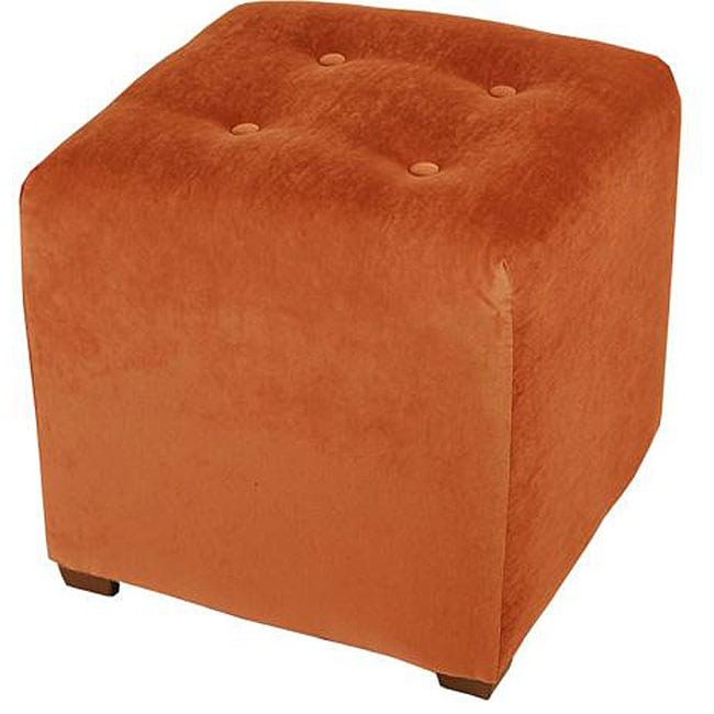 Burnt Orange Cube Ottoman Free Shipping On Orders Over